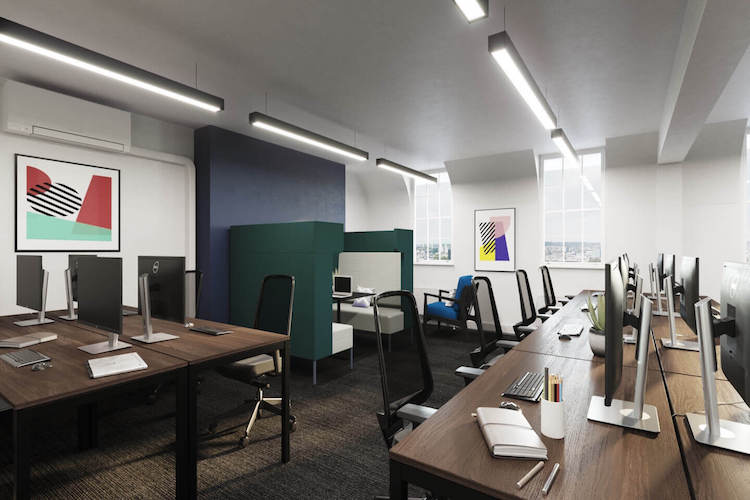 Customisable and fully branded open plan managed office for teams up to 26 by Yours. by Work.Life – Grosvenor Street.