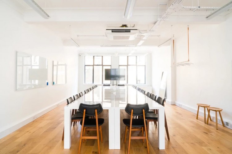 Self-contained office space, filled with natural light offered by Breather on Great Marlborough Street, Soho.