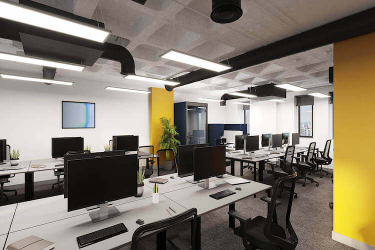 Self-contained managed office space, filled with natural light at Yours. by Work.Life, Grays Inn Road. Customised workspace for medium businesses who need to accommodate teams up to 50.