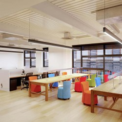 The Office Space in Burford Road, London, boasts a contemporary hot-desking area for freelancers, entrepreneurs and startups to work from in a quiet professional area.