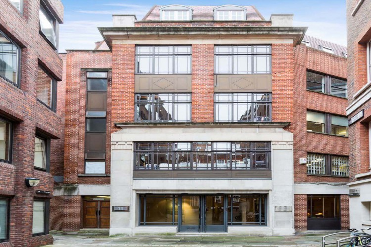 The building exterior of this serviced Office Space in Gough Square, Chancery Lane, offering businesses flexible workspace.