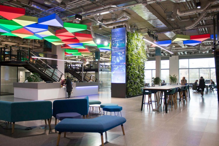 The Office Space in East Bay Lane, Stratford, offers hot desks, co-working and private space for tech startups and scaleups to rent.