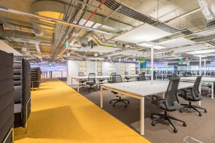The Office Space in East Bay Lane, Stratford, boasts desk space and comfortable workspace areas for tech professionals to use.