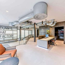Flexible Office Space provider KITT, offers private office space at Dunns Hat Factory for startups, SME's and Corporates to rent in London.