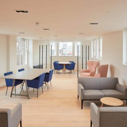 Flexible and managed office space at The Flat Iron Building for businesses/teams of more than 30 employees to customise their own workspace.