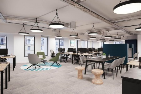 Self-contained managed office space in London Wall, London offering businesses a customisable floor of flexible workspace at an all-inclusive cost.