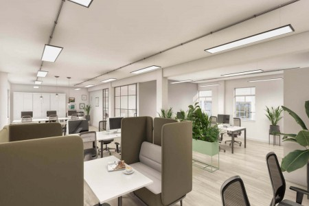 Dunstan House provides businesses modern office space with private floors fitted out with breakout areas and desk space to work from.