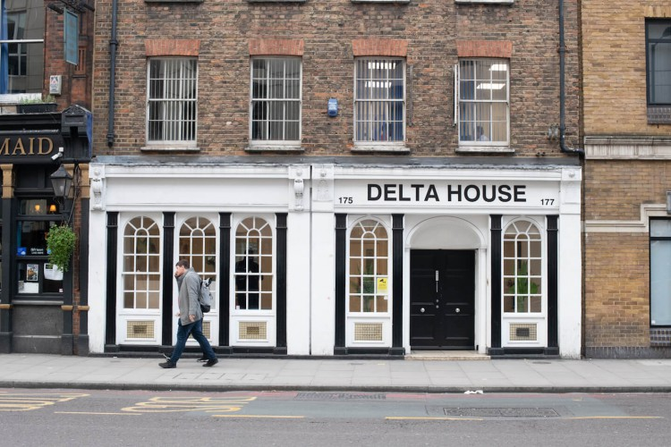 The Delta House serviced office building exterior accommodating small and medium sized businesses on flexible terms.