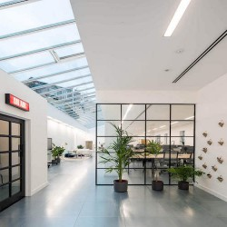Leeke Street is a flexible workspace building with plenty of natural light and features including new comfort cooling, high ceilings, and a fully accessible raised floor for occupiers who need to rent office space in Kings Cross.