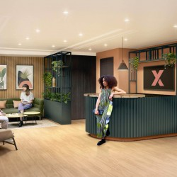 """The Fulwood building is over 18,000 sq ft and comprises meeting rooms, Mission Rooms, """"Zoom Booths"""", a stunning roof terrace and a range of small to large offices"""