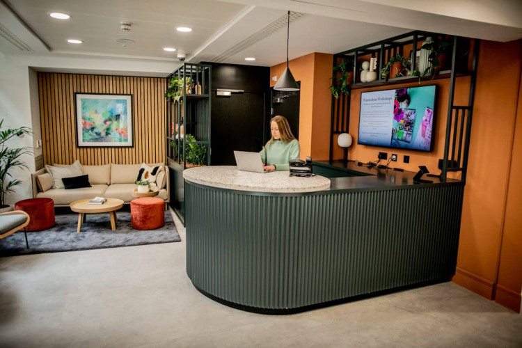 X&Why Serviced Office Reception at The Fulwood