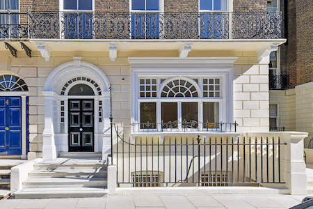 Serviced Office building exterior at 3 Chandos Street in Marylebone for businesses to rent private office space on flexible terms.