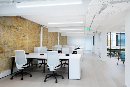Thirdway Interiors & Pulse offer this newly refurbished self-contained flexible office space to rent at their location in Clerkenwell Close.