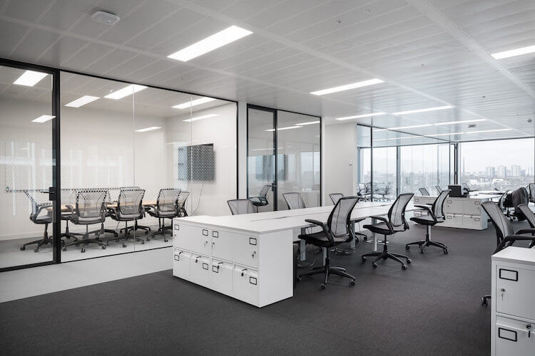 Contemporary workspace at the Storey location at 4 Kingdom Street, Paddington offering managed office space to rent.