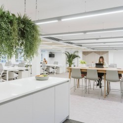 Stunning interior design at the Managed Office to let in Brownlow Yard, 12 Roger St., Bloomsbury WC1N