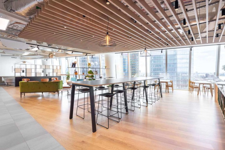 100 Bishopsgate features high-quality, collaborative, communal workspace for office tenants to use.