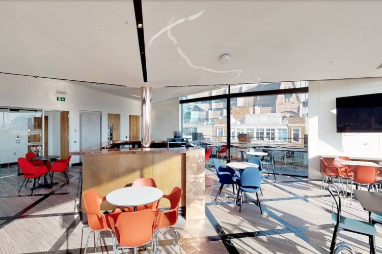 Us&Co 7 Harp Lane 7th Floor Communal Area for serviced office occupiers to use.